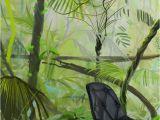 Jungle Mural Wall Hanging 10 Shades Of Green