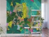 Jungle Mural Wall Hanging Maximalist Boho Jungle Wall Mural by Elliottdesignfactory