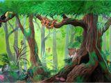 Jungle Mural Wall Hanging Rainforest Mural by Kchan27 On Deviantart