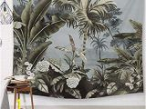 Jungle Mural Wall Hanging Vintage Tropical Tapestry Palmier Tree Wall Hanging Decor