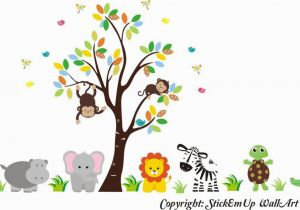 Jungle Safari Wall Mural Buy Zoo Animal Wall Mural Safari Animal Stickers Jungle