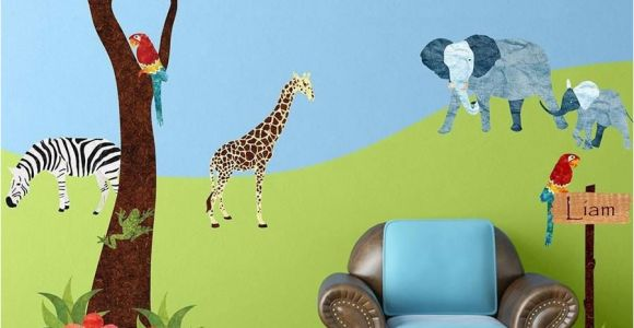 Jungle Safari Wall Mural Jungle Safari Wall Decal Sticker Kit Jumbo Set