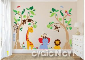 Jungle Safari Wall Mural Jungle Safari Wall Decals Baby Wall Decals Nursery Wall Decals Kids Wall Decals Children Wall Decals Pljn040
