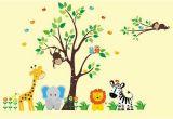 Jungle Safari Wall Mural Nursery Wall Decal Safari Nursery theme Jungle Nursery