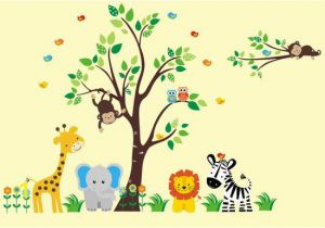 Jungle Safari Wall Mural Nursery Wall Decal Safari Nursery theme Jungle Nursery