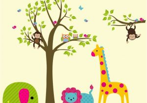 Jungle Safari Wall Murals Safari Wall Decals Nursery Safari Decals Kids Room Wall