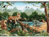 Jungle Scene Wall Mural Rainforest Minute Mural