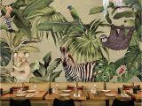 Jungle Scene Wall Mural southeast asian Rainforest Flora and Fauna Of Large Murals