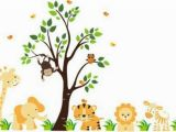 Jungle theme Wall Murals Jungle theme Nursery Dzieci Pinterest