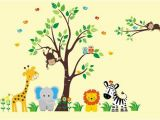 Jungle theme Wall Murals Nursery Wall Decal Safari Nursery theme Jungle Nursery theme