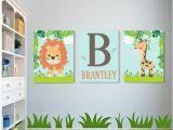 Jungle themed Nursery Wall Murals Safari Nursery Wall Art Safari Nursery Decor Boy Nursery