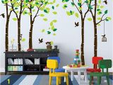 Jungle Wall Mural for Nursery Anber Giant Jungle Tree Wall Decal Removable Vinyl Mural Art Wall