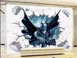 Justice League Wall Mural Klf Batman Art Vinyl Wall Stickers Wall Decals Mural Kids Nursery Home Decor