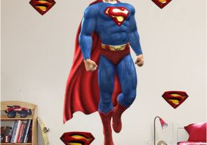 Justice League Wall Mural Superman Wall Sticker Huge Large
