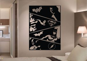 Justice League Wall Mural the Justice League Ic Strip 4 Panel Wall Art Stickers is