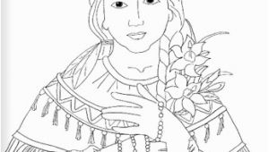 Kateri Tekakwitha Coloring Page Saint Kateri Tekakwitha Catholic Coloring Page Feast Day is July