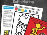 Keith Haring Coloring Pages Keith Haring Art History Worksheets and Art Activities
