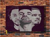 Kendrick Lamar Wall Mural Art J Cole Drake Kendrick Lamar Damn Silk Art Poster Y1323