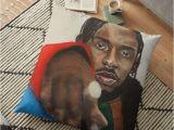 Kendrick Lamar Wall Mural Kendrick Lamar Portrait Fan Art Wall Art Rap Rapper Cool Painting Acrylic Dope Damn Album Masculine T Present Music Lyrics Realisim Goat Hiphop
