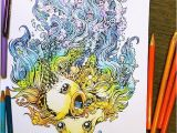 Kerby Rosanes Coloring Pages Coloring Book for Adults Titled Doodle Invasion by Kerby