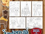Kids Coloring Pages for Restaurants Instant Digital Download Cinderella Princess theme Coloring Pages In Jpeg and Pdf Files Printable for Childrens Kids Coloring Activity