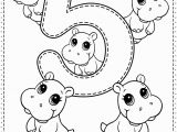 Kids Coloring Pages with Numbers Number 5 Preschool Printables Free Worksheets and