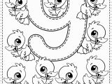 Kids Coloring Pages with Numbers Number 9 Preschool Printables Free Worksheets and