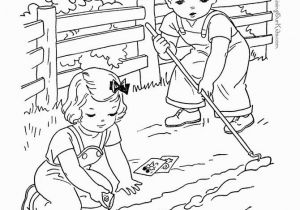 Kids Doing Chores Coloring Pages Farm Page to Print and Color 006 Actividades De Abril