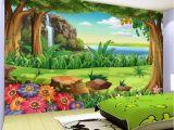 Kids forest Wall Mural Amazon 3d Wallpaper Children Cartoon forest Landscape