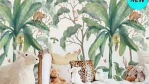 Kids forest Wall Mural Jungle Wall Mural Wallpaper Removable Peel & Stick Wallpaper