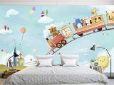 Kids Murals for Walls Cartoon Animals In the Amusement Park Wallpaper Mural