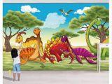 Kids Murals for Walls Custom 3d Murals Wall Paper Home Decor Jurassic Dinosaur Park forest Grass Wing Dragon Children S Room Background Wall Papel De Parede Kids
