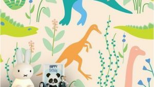 Kids Wall Mural Wallpaper Dinosaurs In 2019