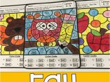 Kindergarten Fall Coloring Pages Fall Color by Code Letters Worksheets