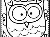 Kindergarten Fall Coloring Pages Owl Coloring Page