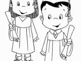 Kindergarten Graduation Coloring Page Graduation Couple Coloring Pages Color Luna Cake