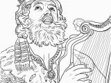 King David Coloring Pages for Kids King David Playing the Harp Coloring Line Super Coloring