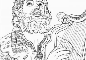 King David Coloring Pages King David Playing the Harp Coloring Line Super Coloring