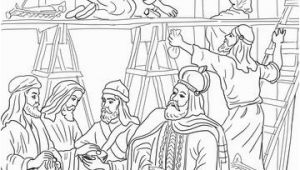 King Josiah Coloring Page Joash Has the Temple Repaired Ii Kings 12