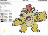 King Koopa Coloring Pages Super Mario Bros Bowser 2 Embroidery Design