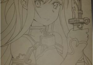 Kirito and asuna Coloring Pages Sword Art Line asuna Line Art by Joe Ball Drawing Anime