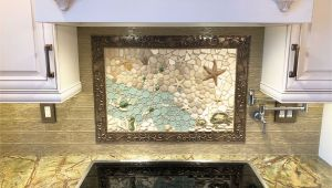 Kitchen Mural Wall Tiles Custom Nautical Kitchen Mosaic Backsplash Mural Made with