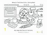 Kitchen tools Coloring Pages Kitchen Coloring Page Country Kitchen with Pancakes Kitchen tools