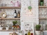 Kitchen Wall Ideas Mural Exposed Brick Wall Kitchen Ideas Pinterest