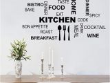 Kitchen Wall Mural Ideas Decalmile Kitchen Food Quotes Wall Decals Black Wall Letters Stickers Dining Room Kitchen Wall Art Decor