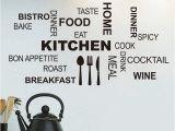 Kitchen Wall Mural Wallpaper Modern Black Quote Kitchen Restaurant Wall Stickers Wall