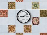Kitchen Wall Murals Tile 15cm 20cm Self Adhesive Wall Decal Arabic Pattern Waterproof Bathroom Removable Kitchen Anti Oil Tiles Stickers Living Room Home Decorative Wall