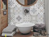 Kitchen Wall Murals Tile Funlife 15 15cm 20 20cm Retro Diy Pvc Waterproof Self