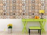 Kitchen Wall Murals Tile Set Of 24 Tile Stickers Back Splash Talavera Style Stickers Mixed for Walls Kitchen Bathroom Stair Decals M5