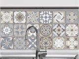 Kitchen Wall Murals Tile Walplus Brown Limestone Spanish Tiles Wall Sticker Decal